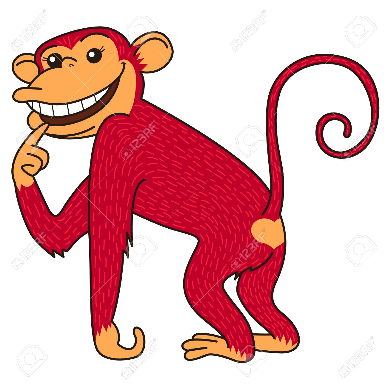 Red Monkey Is A Symbol Of The Year According To Chinese Zodiac