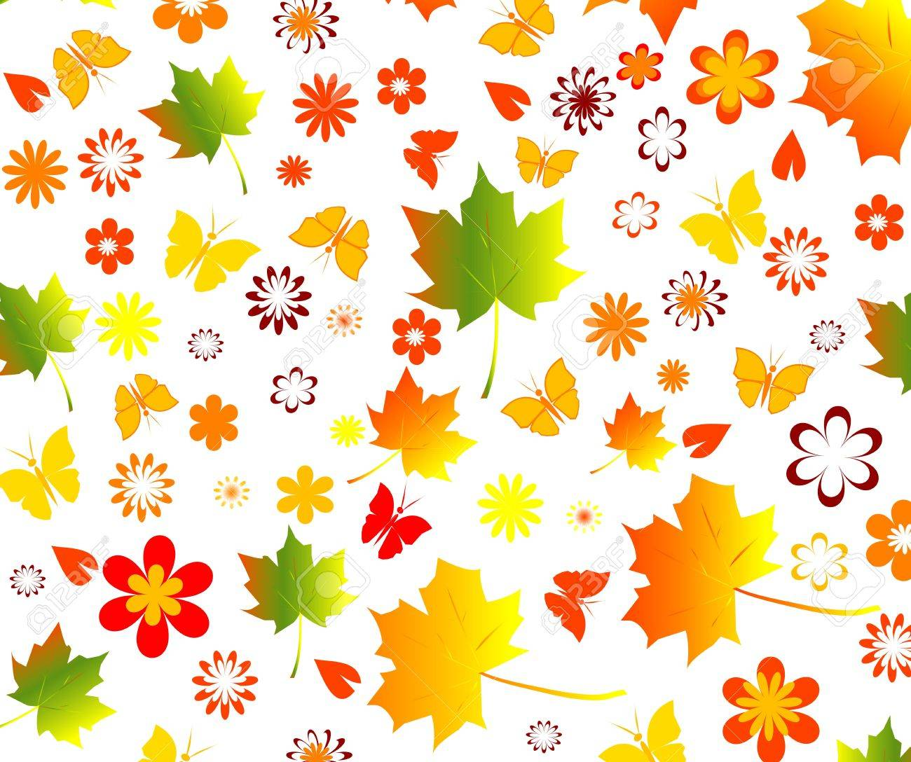 fall seamless background Stock Vector - 5777300