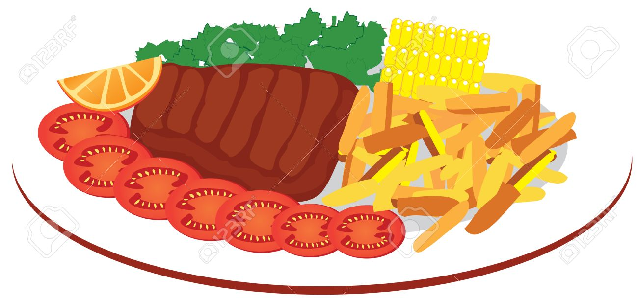 Food Plate Royalty Free Cliparts, Vectors, And Stock Illustration ... for Plate With Food Drawing  54lyp