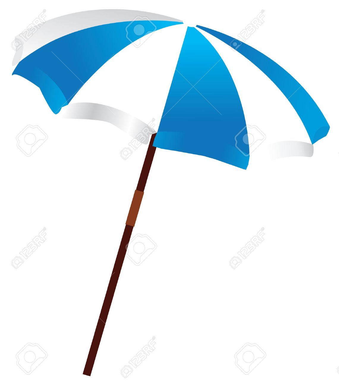 beach umbrella Stock Vector - 8002552