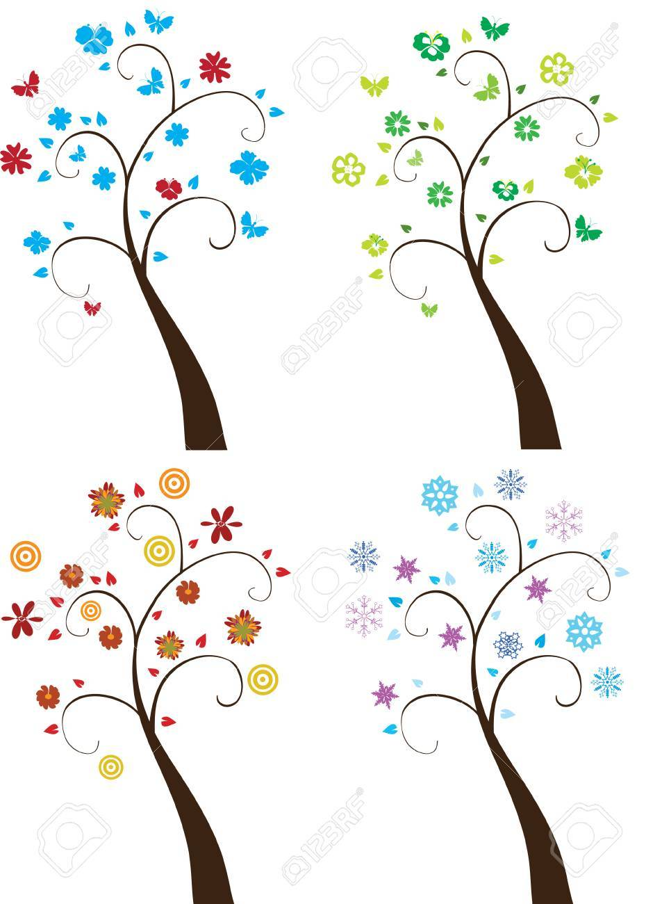 season trees Stock Vector - 8393320