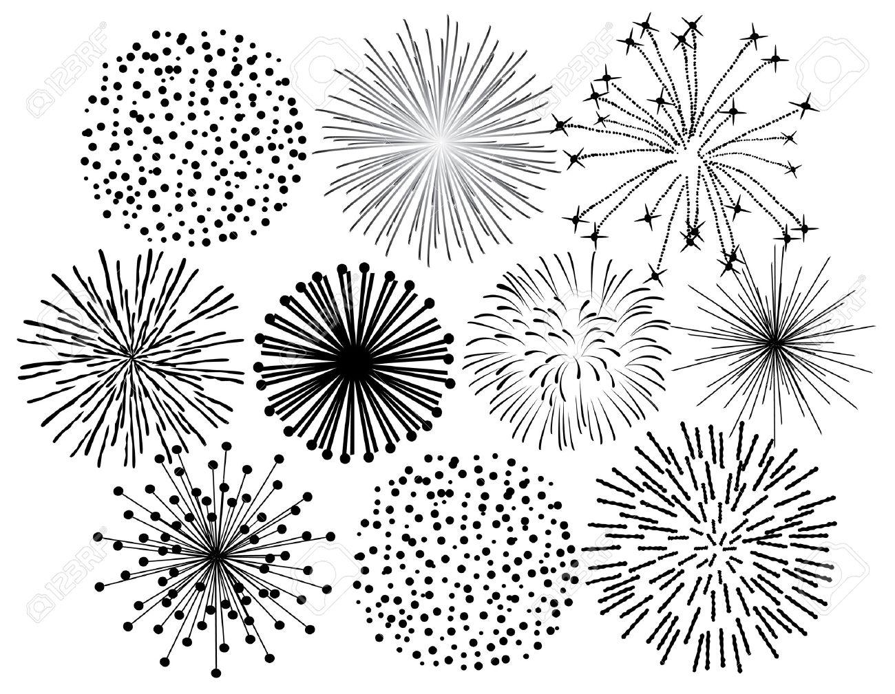 black fireworks on white background rh 123rf com firework vector black firework vector black