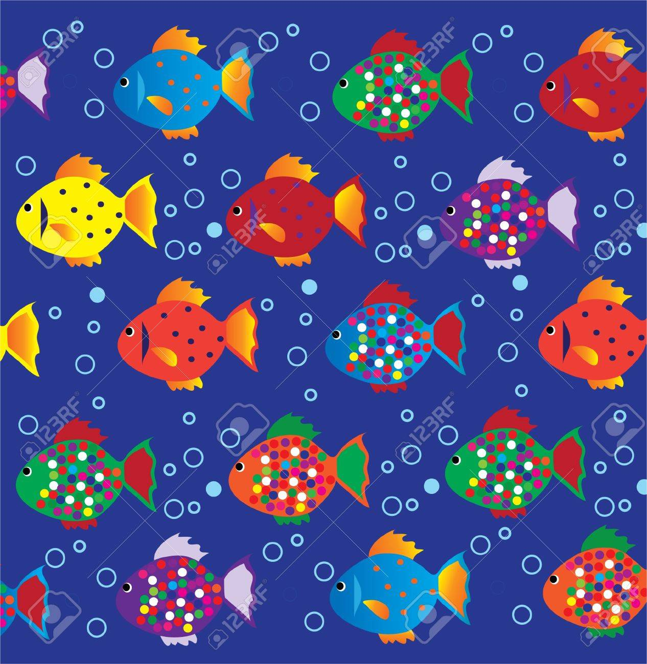 Background image bottom 0 - Vector Fish Background