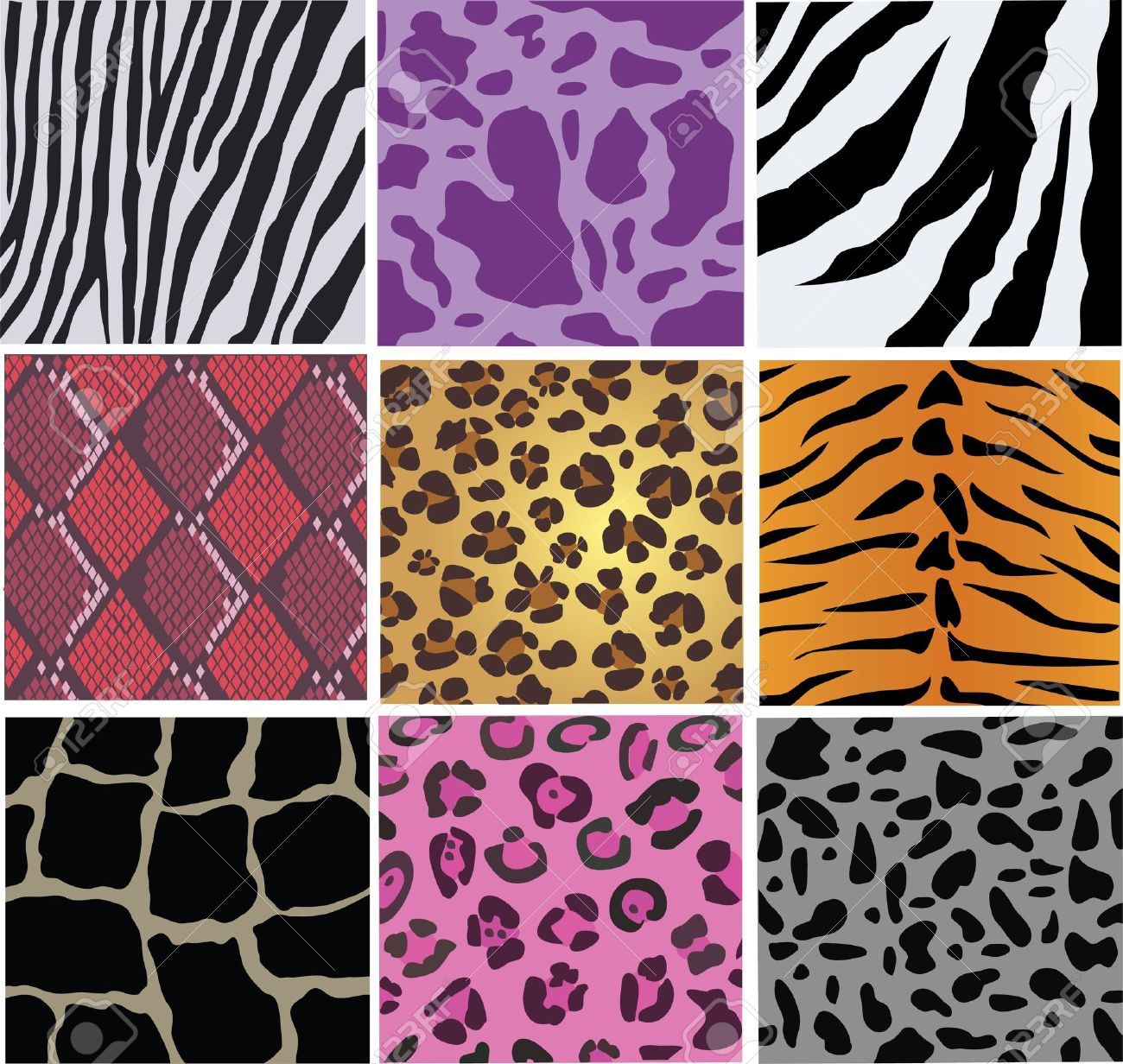 Vector Animal And Snake Skin Royalty Free Cliparts Vectors And