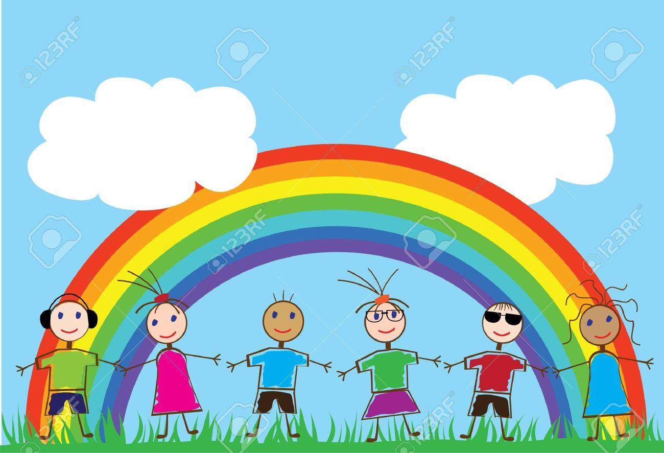 дети и радуга картинки