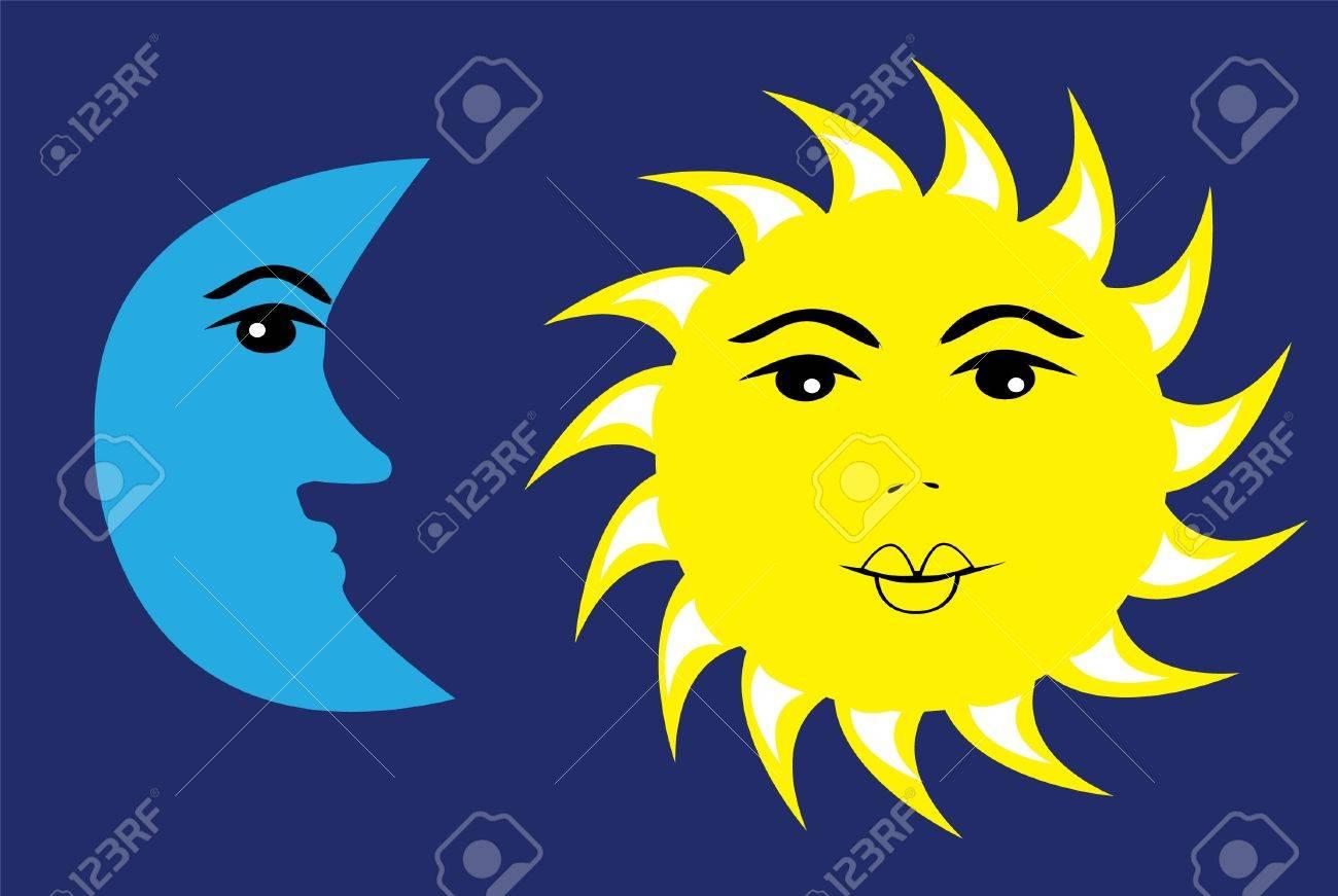 vector sun and moon Stock Vector - 10307537
