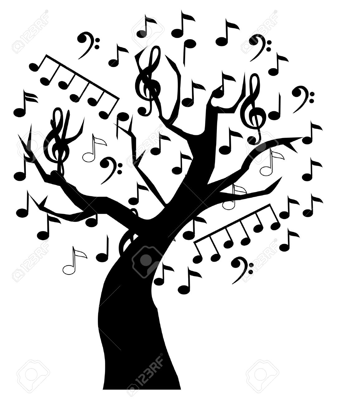 music tree Stock Vector - 10770794
