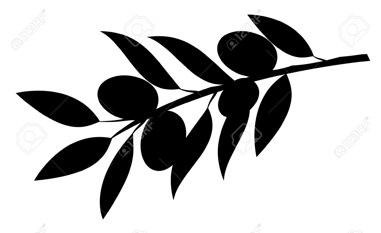 Olive Branch Silhouette Leaf