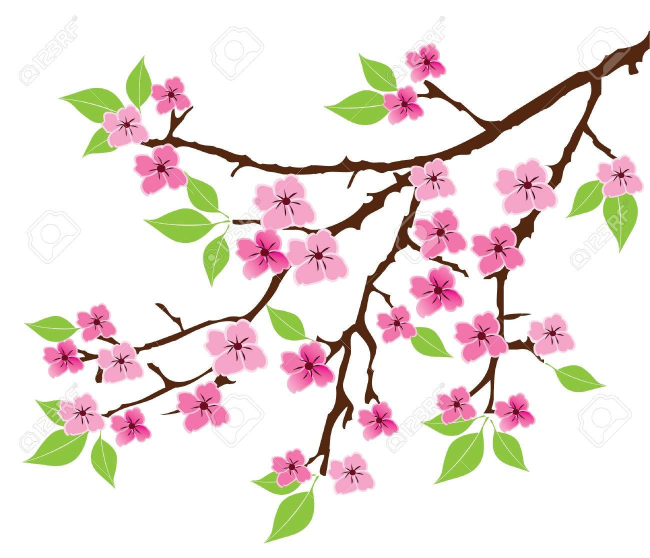 Branch Silhouette Vector Tree