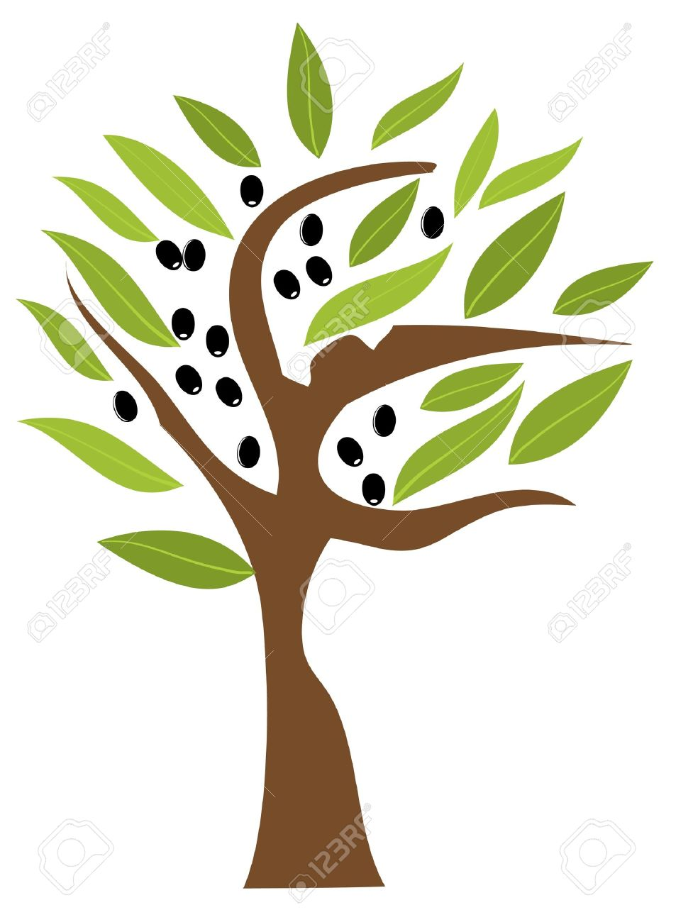 vector olive tree Stock Vector - 20469982