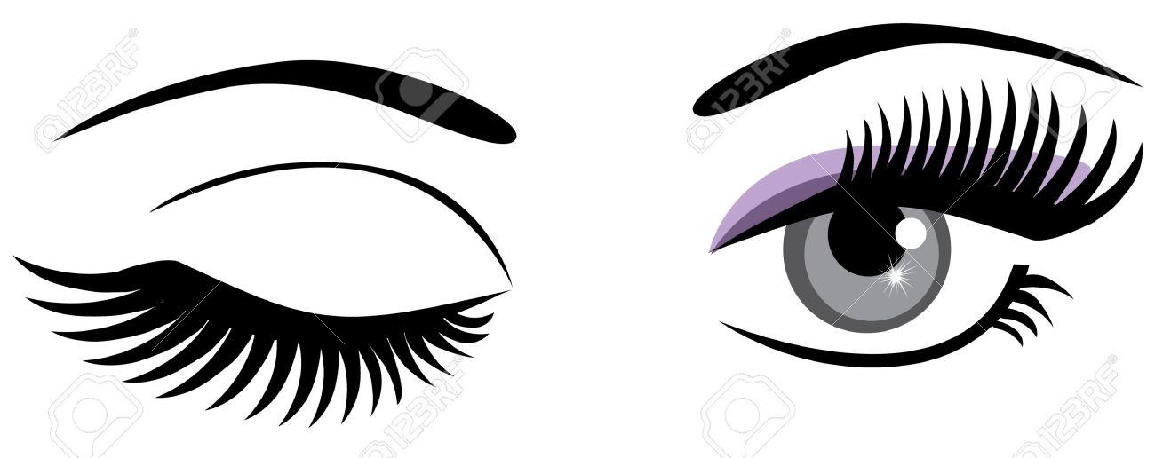 winking eyes royalty free cliparts, vectors, and stock