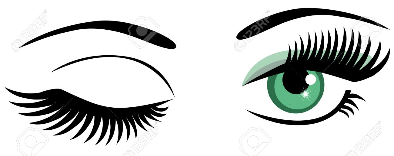 vector green eyes winking royalty free cliparts vectors and stock rh 123rf com vector eye centre vector eye care calgary