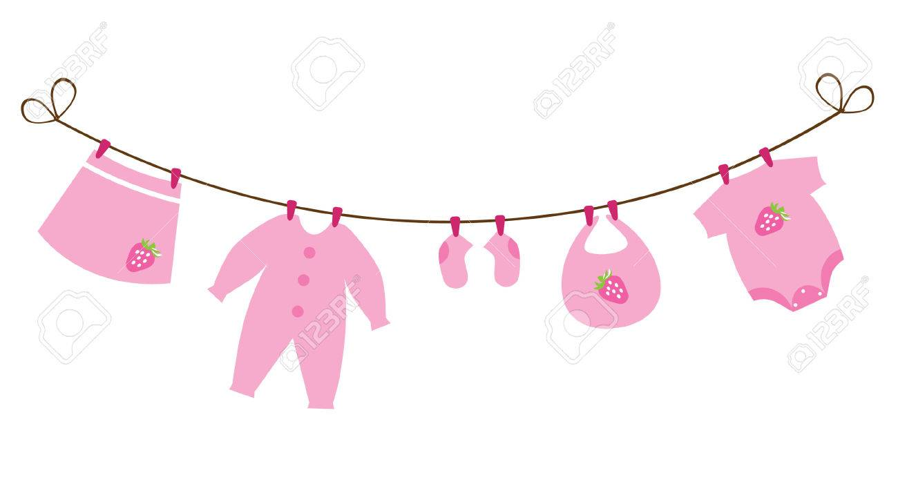 Newborn Baby Girl Clothes With Strawberries Royalty Free Cliparts Vectors And Stock Illustration Image 29008598