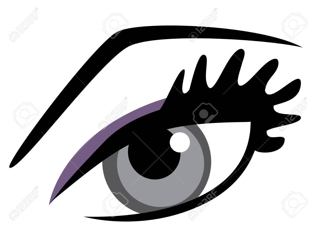 vector eye with long lashes and make up royalty free cliparts rh 123rf com vector eye care calgary vector eyeball