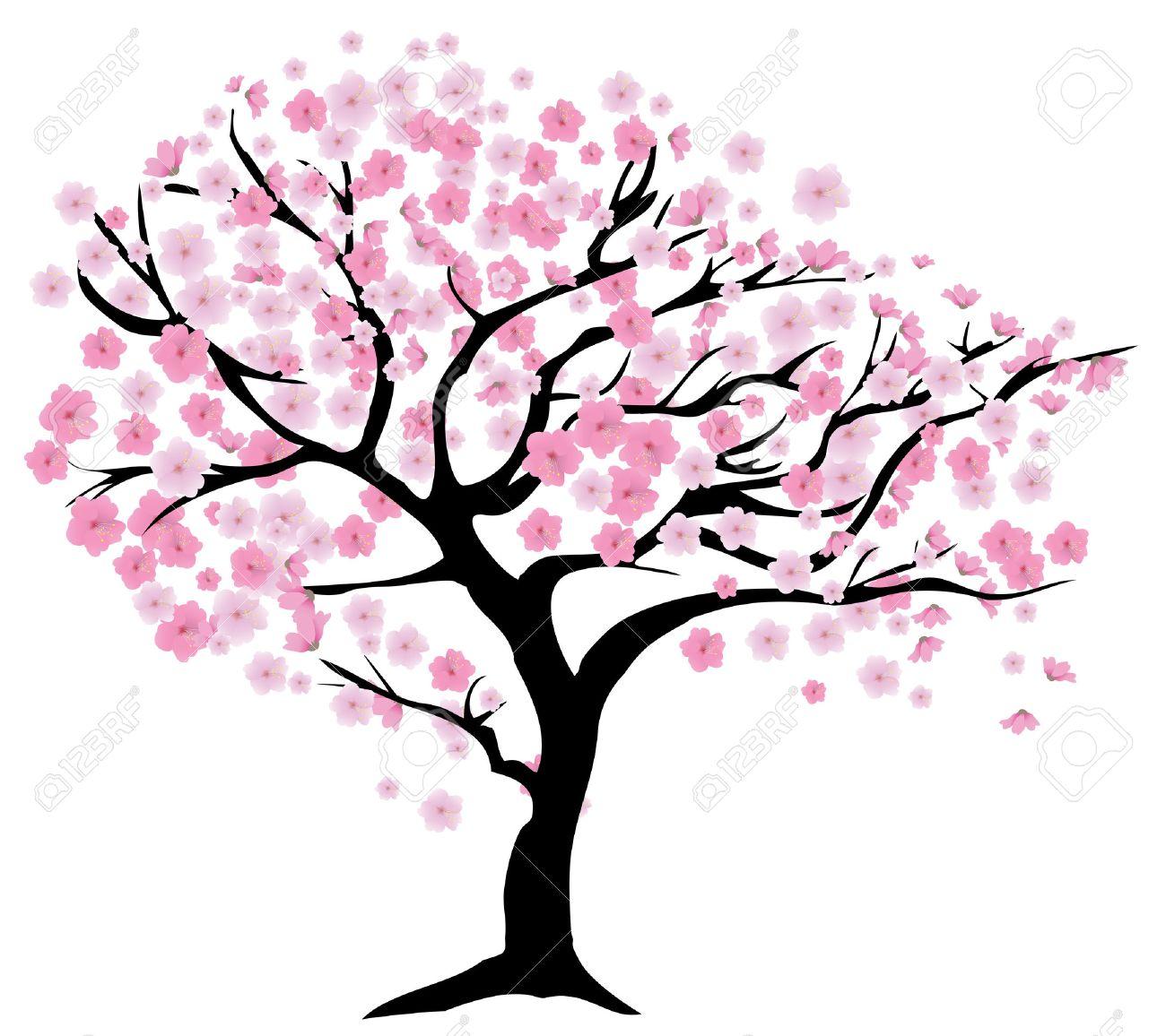 Ilustración Vectorial De Un árbol De Cerezo En Flor Ilustraciones