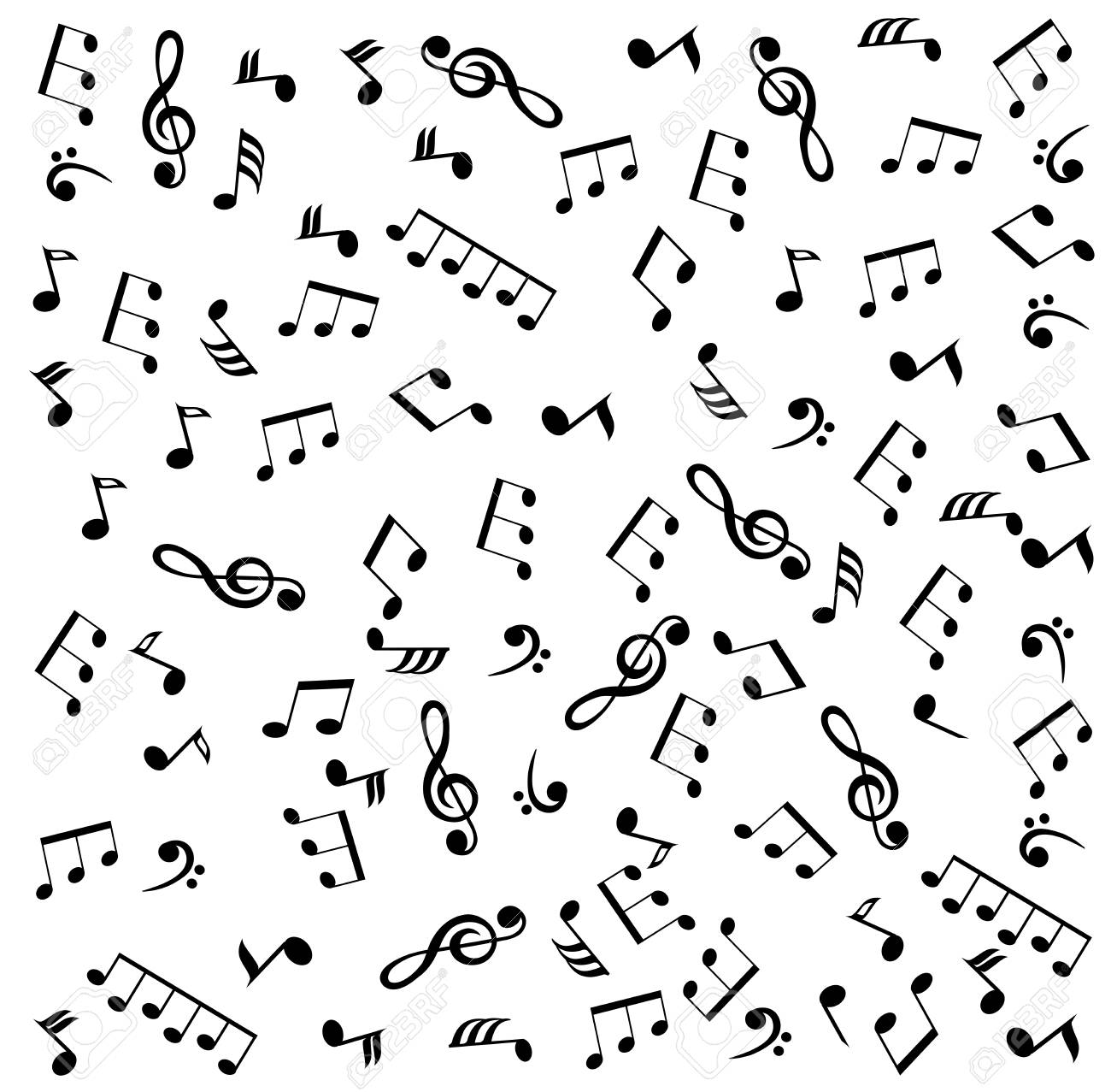 Vector Illustration Of A Musical Note Background Royalty Free