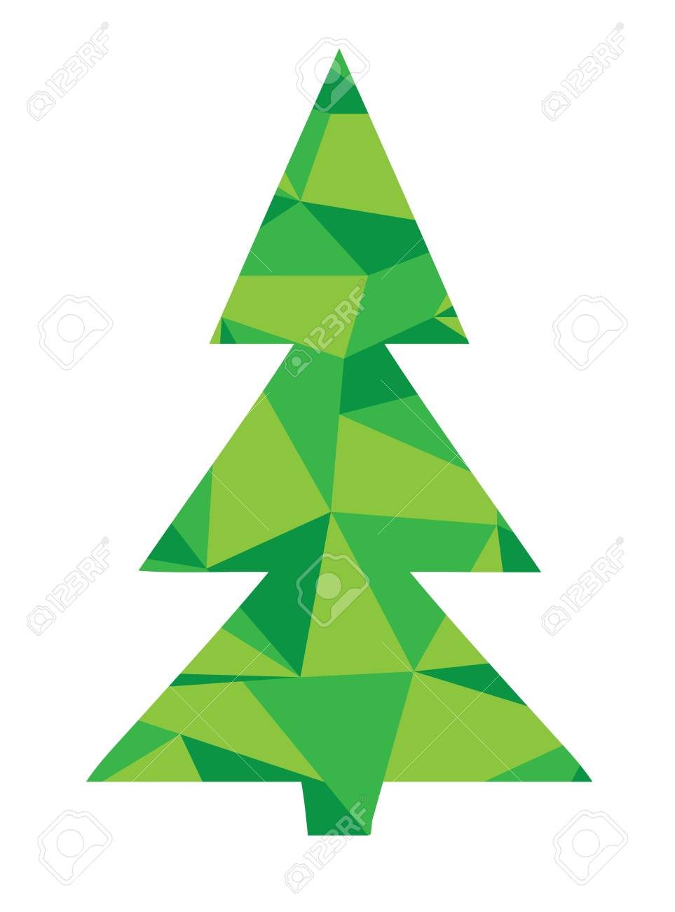 Foto Di Un Albero Di Natale.Illustrazione Vettoriale Di Un Albero Di Carta Di Soggiorno Di Natale