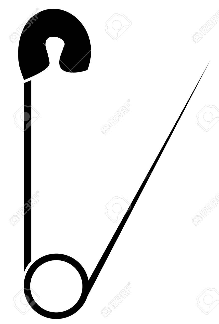 Vector illustration of safety pinweb logo flat image object vector illustration of safety pinweb logo flat image object isolated on buycottarizona Choice Image
