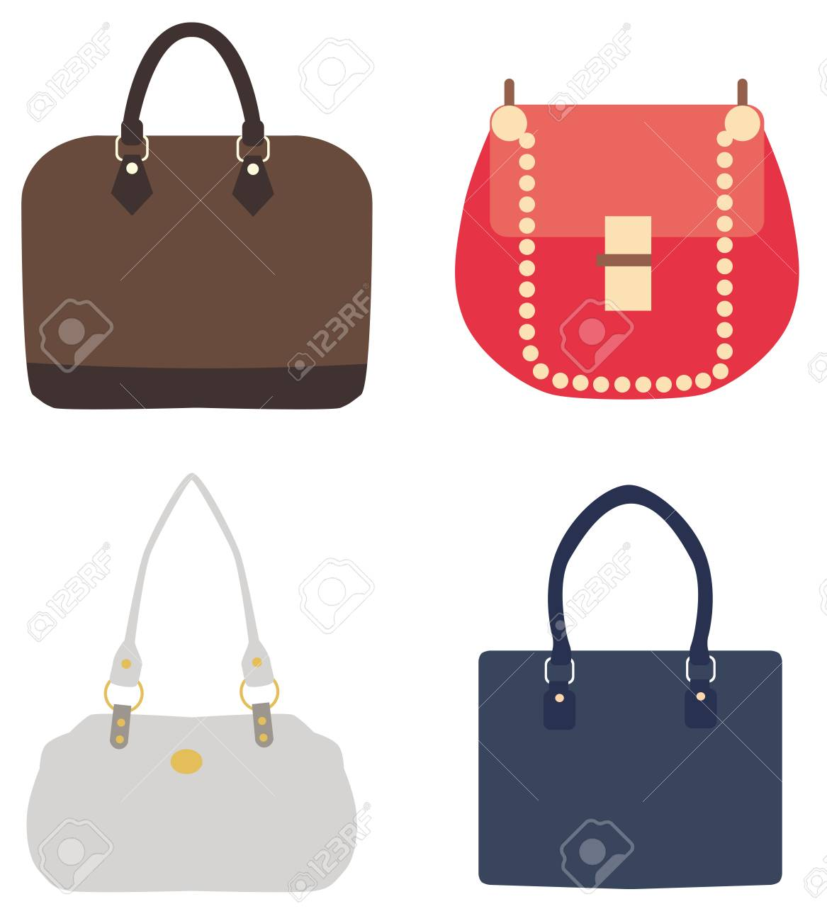 bc12ba509f Vector - Vector illustration of bags