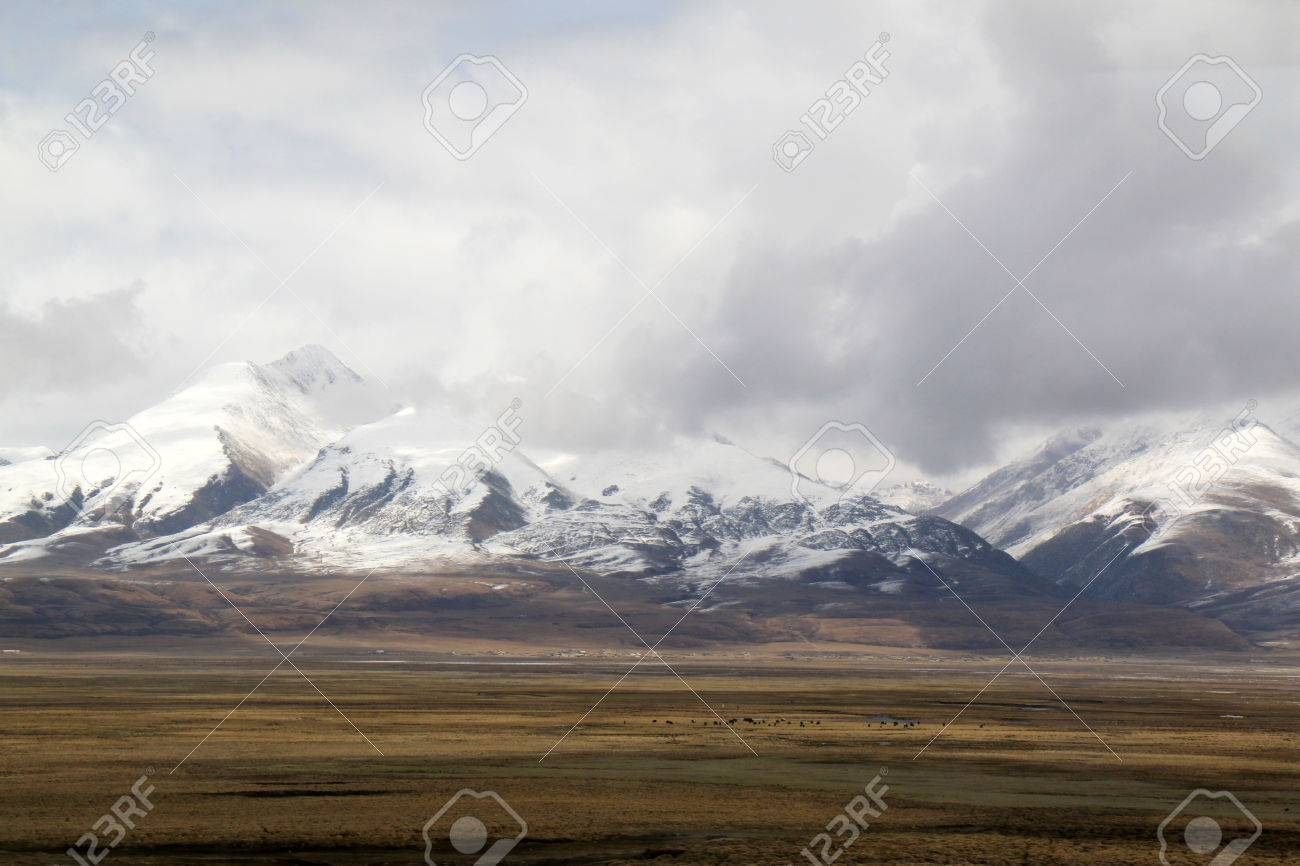 Landscape from Train Routing from Xining, China to Lhasa, Tibet