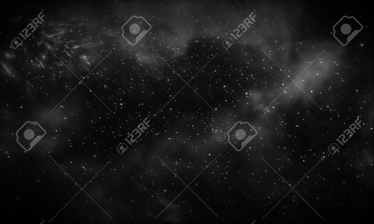Dark Galaxy Background Stock Photo