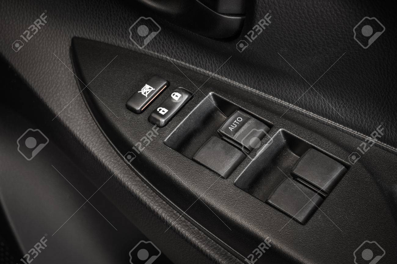 car door lock button. Car Door Lock Button Closeup. Electric Locking In Modern Stock  Photo - 54588998 Car Door Lock Button