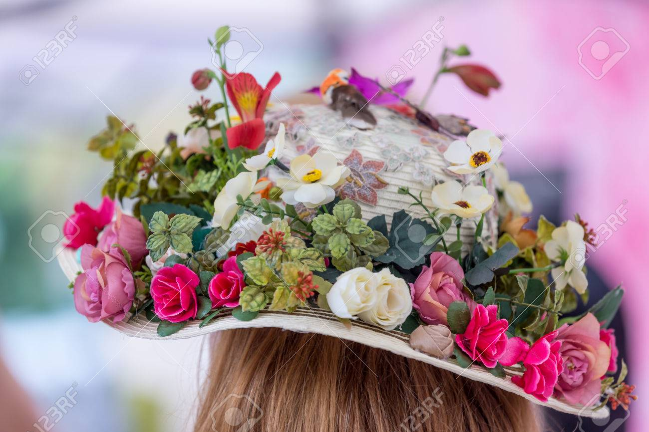 Hat with natural and artificial spring flowers stock photo picture hat with natural and artificial spring flowers stock photo 41799718 mightylinksfo