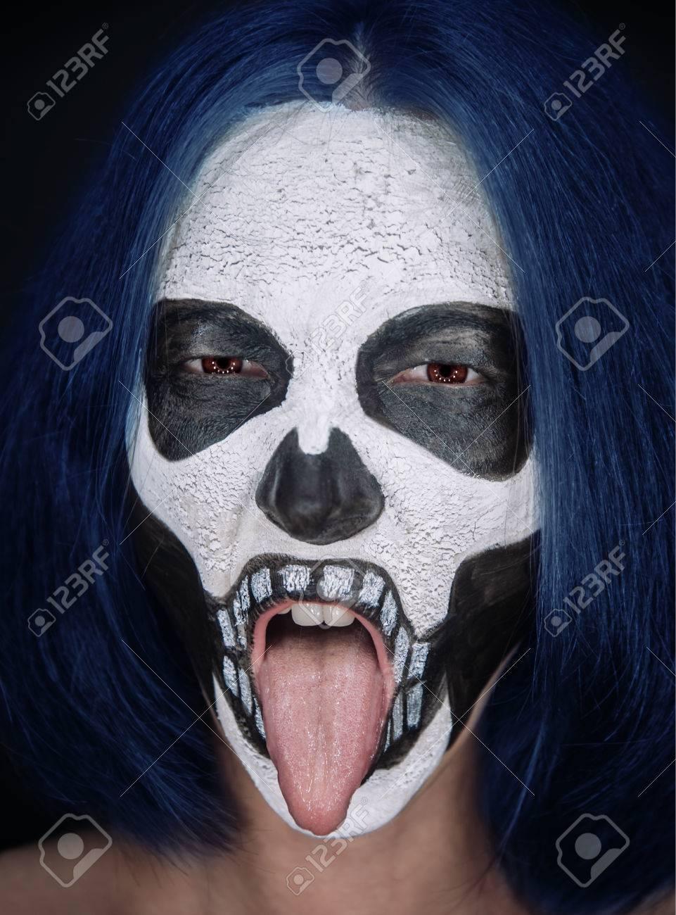 Maquillaje Terror Mujer Maquillaje Terror U Foto De Stock With
