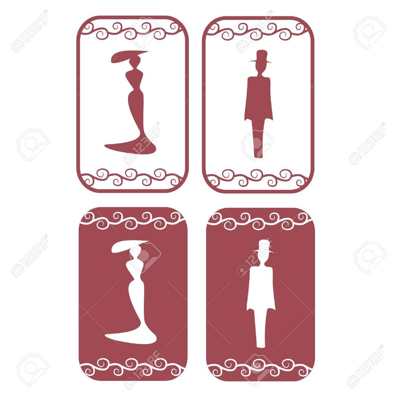 Restroom Symbols Vector Red Vector Secession Restroom