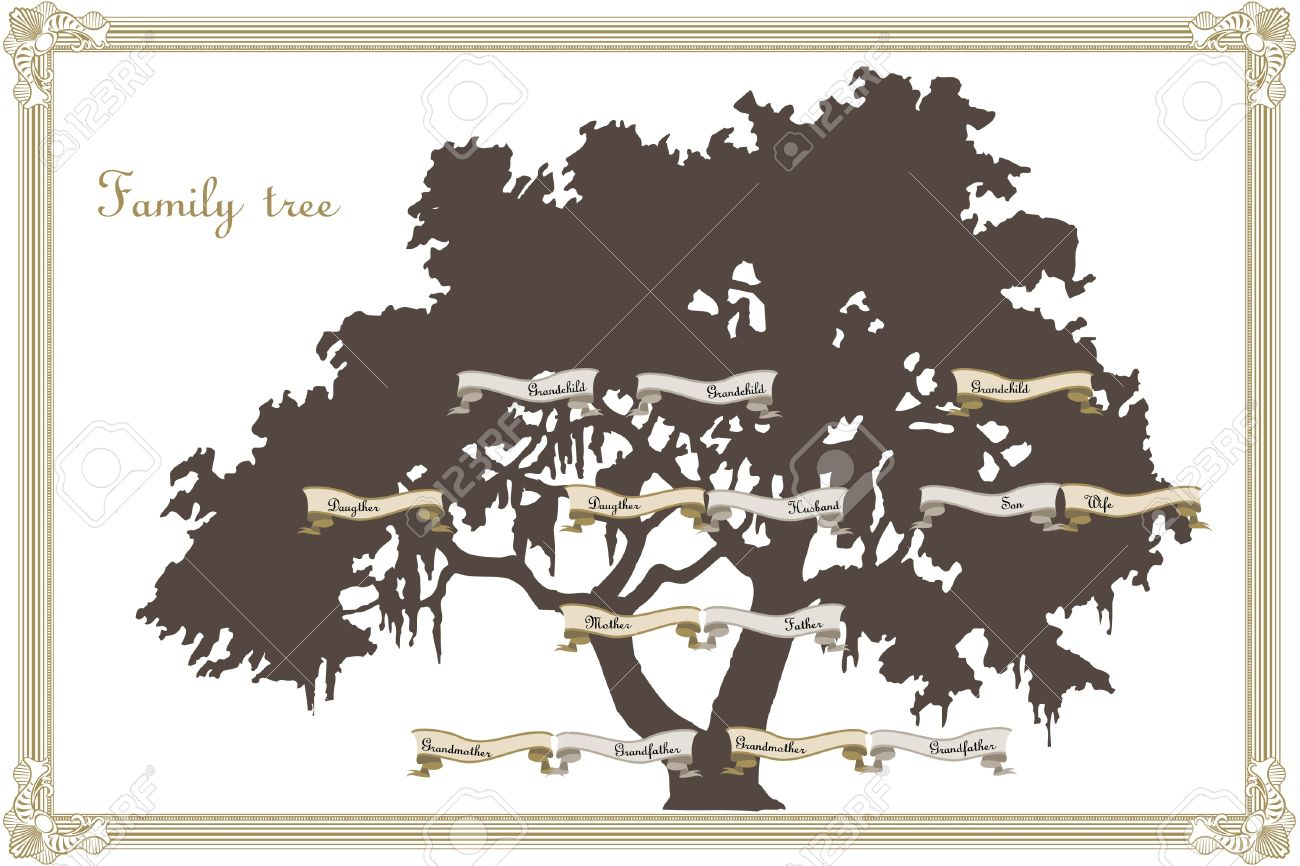 Family tree template Stock Vector - 15980020