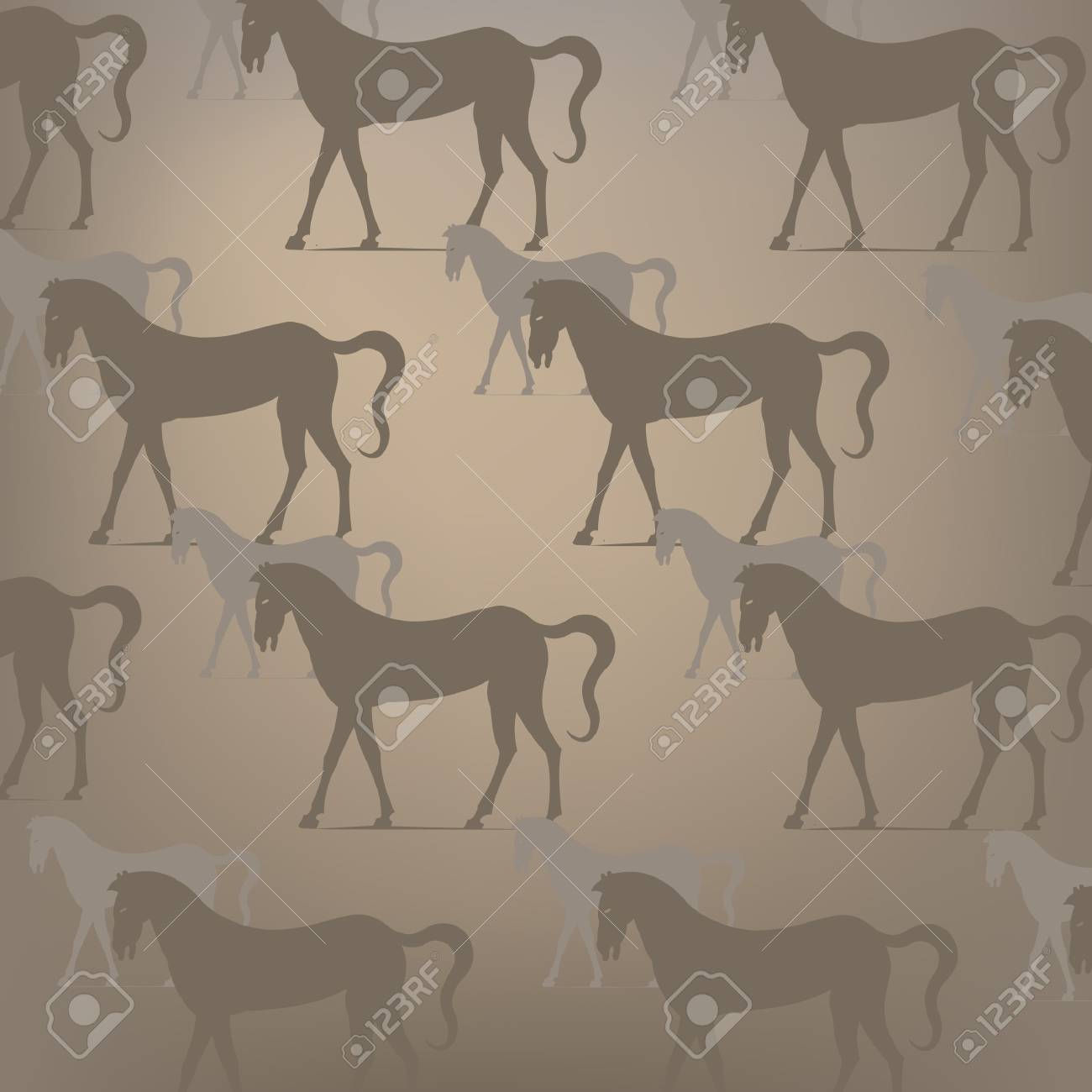 Brown horse pattern Stock Vector - 16228573