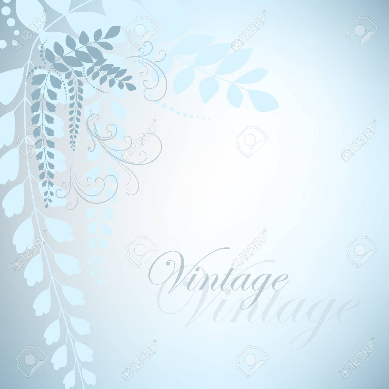 Blue vintage with acacia flowers Stock Vector - 16429454