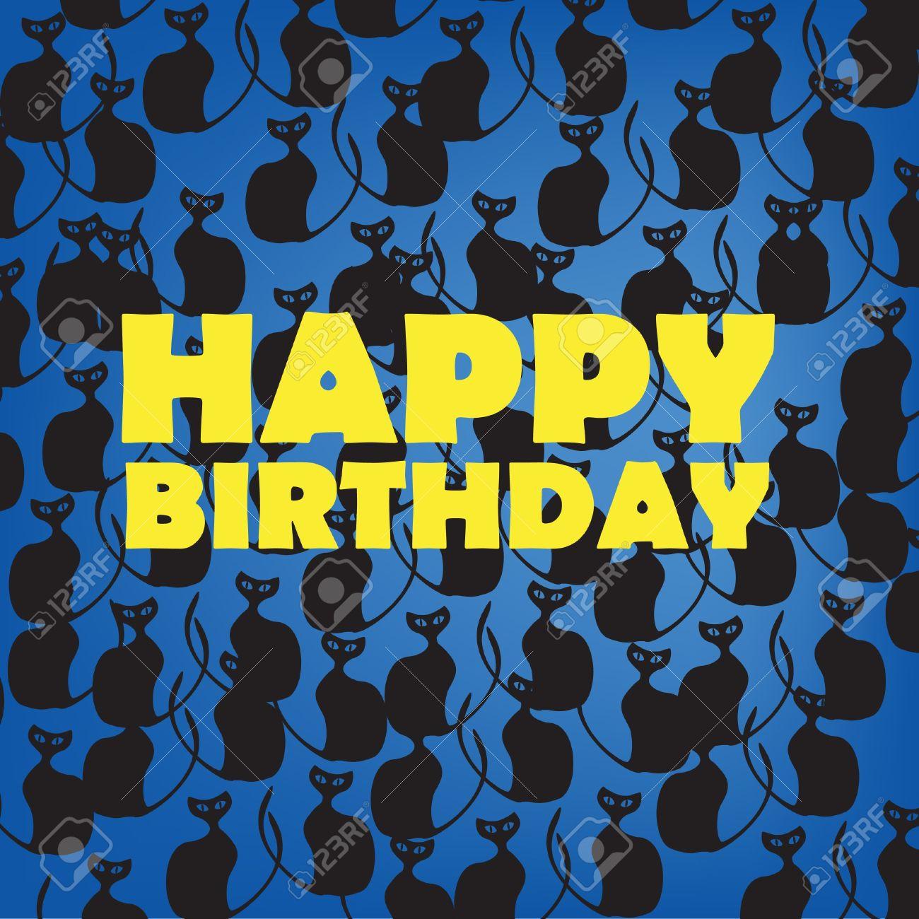 Black Happy Birthday Cards Boatremyeaton