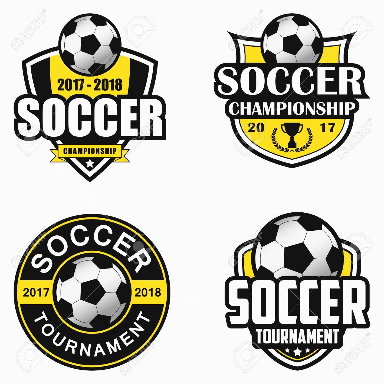 Soccer emblem. Set of sports emblem designs. Vector illustration. - 125472664