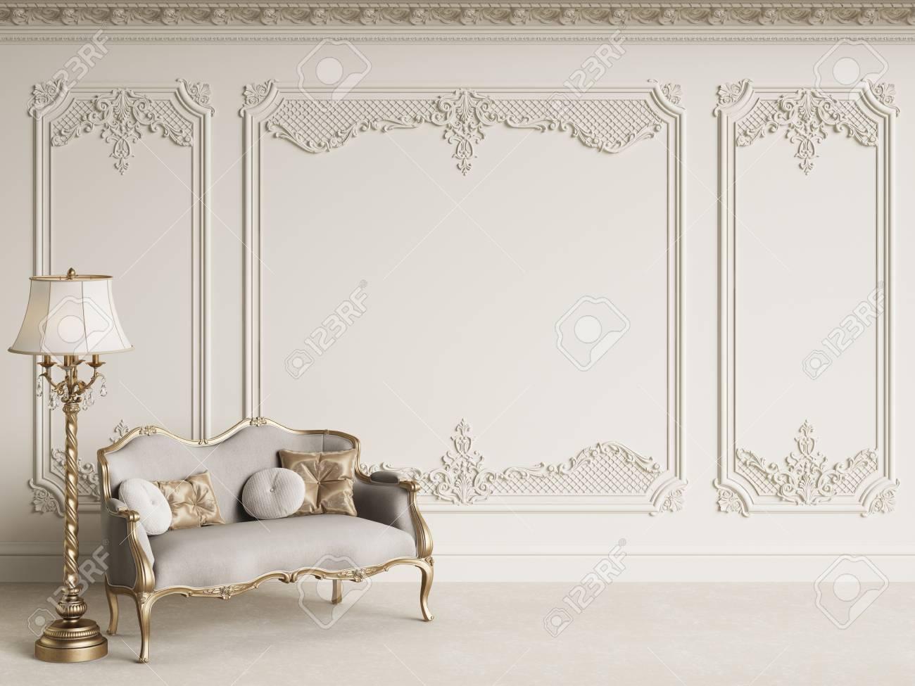classic furniture in classic interior with copy space white walls rh 123rf com