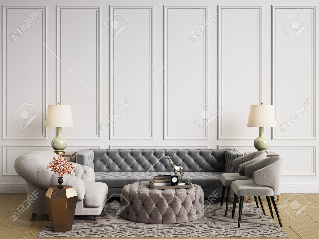 Peachy Classic Interior In Pastel Colors Sofa Chairs Side Tables With Squirreltailoven Fun Painted Chair Ideas Images Squirreltailovenorg