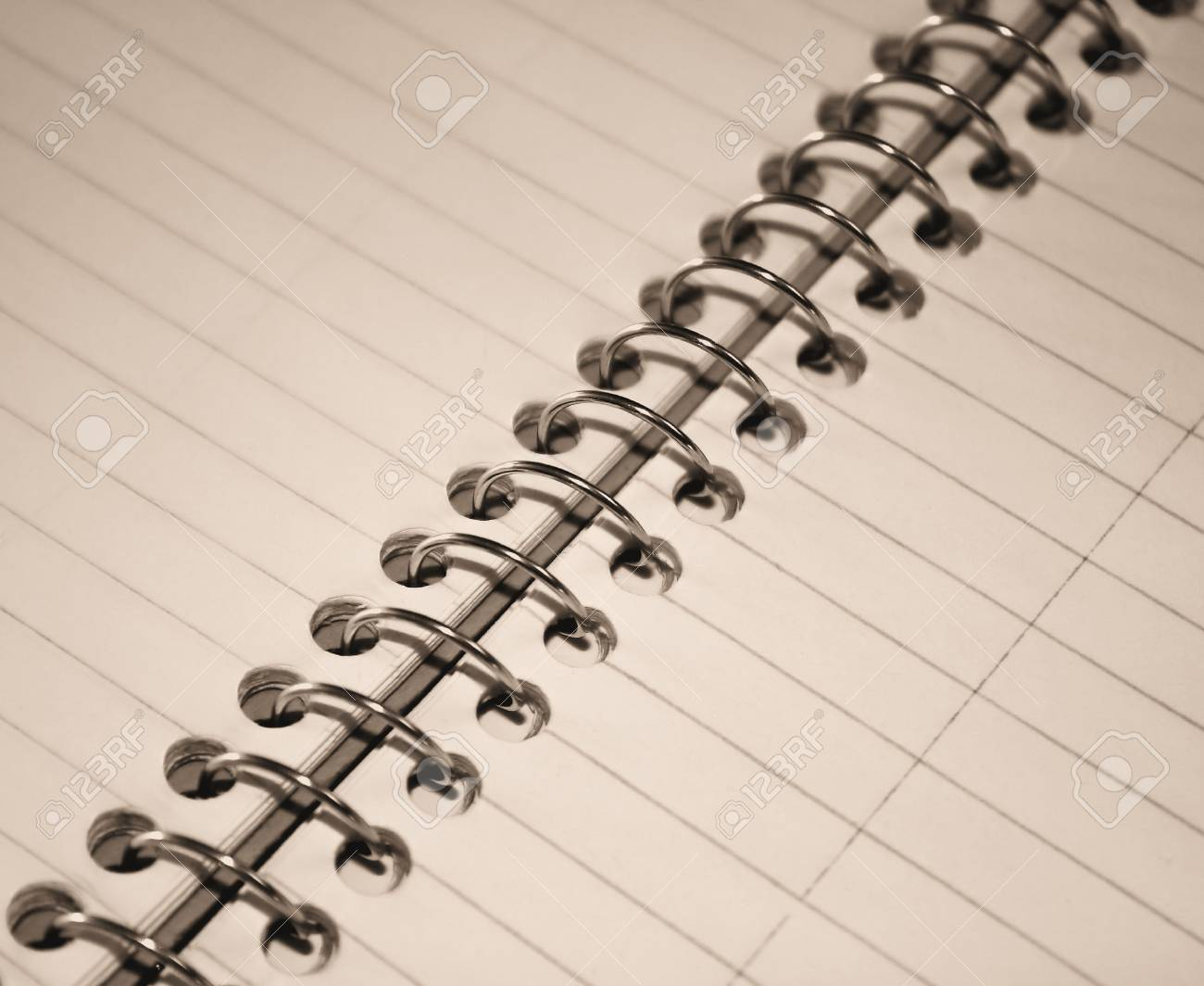 Spiral Notebook (sepia tone) Stock Photo - 10163944