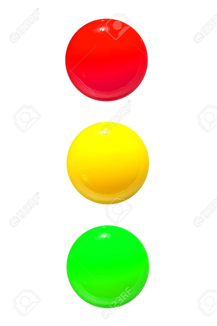 Ampel Symbol Rot Gelb Grun Auf Weissem Hintergrund Lizenzfreie