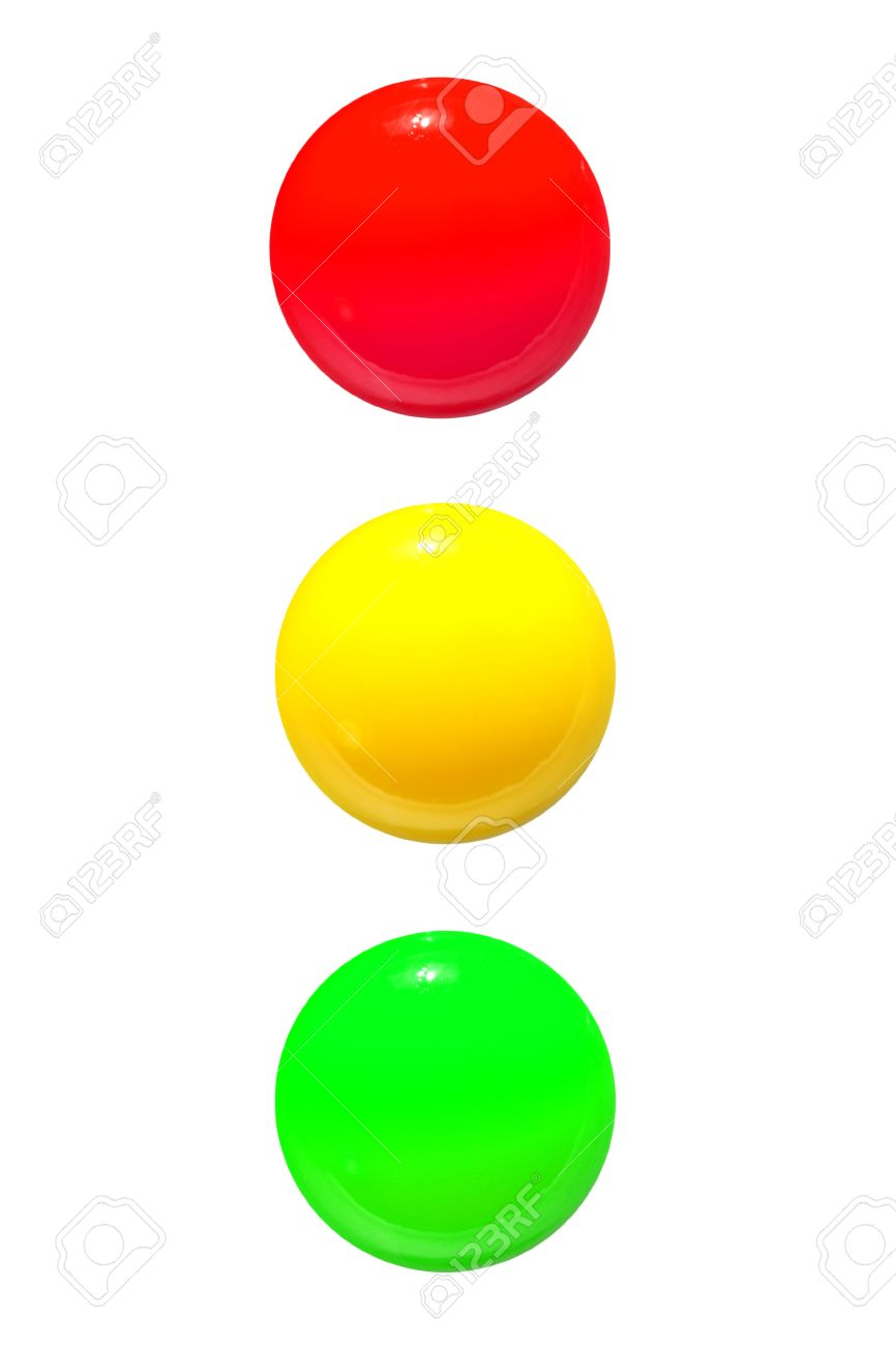 Traffic Lights Icon Red Yellow Green On White Background Stock ... for Traffic Light Yellow Icon  155sfw