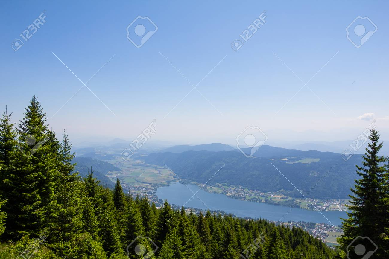 View To Lake Ossiach From Mt. Gerlitzen Stock Photo - 59718629