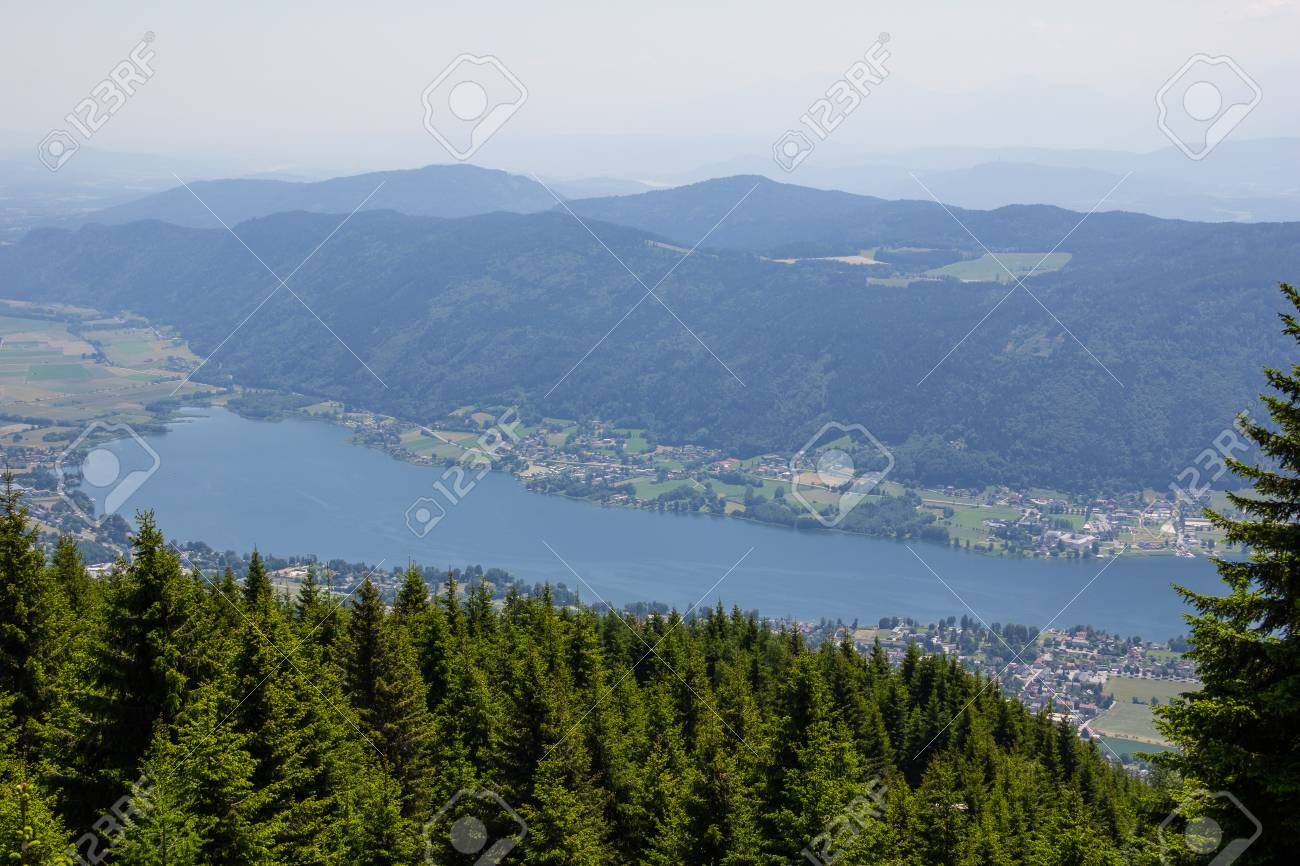 View To Lake Ossiach From Mt. Gerlitzen Stock Photo - 59718630