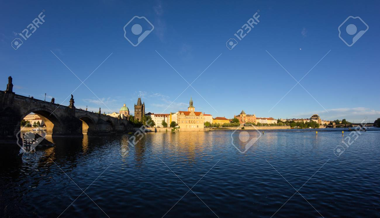 View To Charles Bridge In Prague Czech Republic Stock Photo - 60831211
