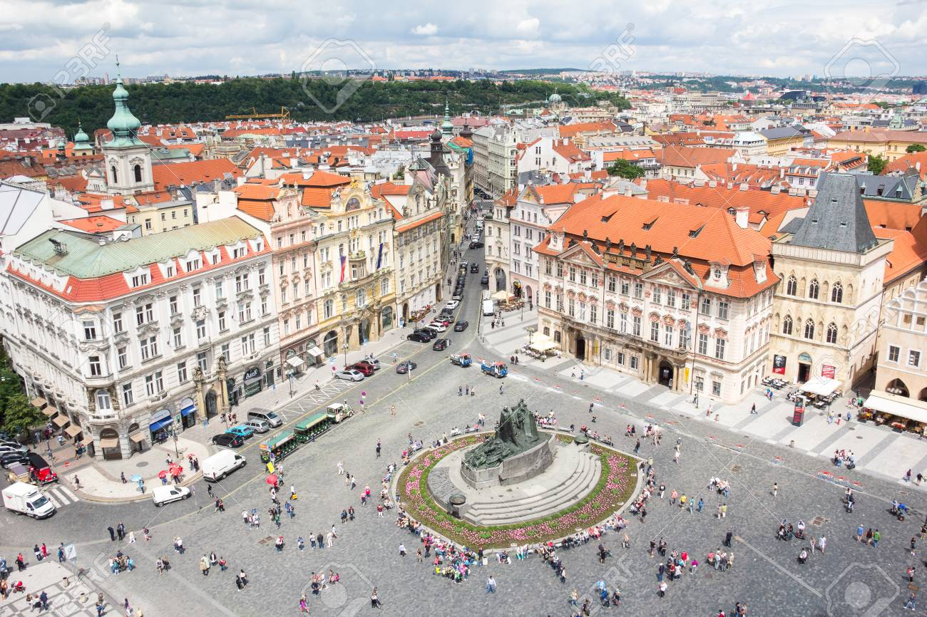 View To The City Of Prague From Old Town Hall Tower In Czech Republic Stock Photo - 60831208
