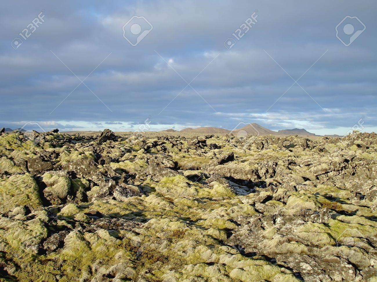 Extreme volcanic terrain in icelandic 'Blue Lagoon' area near Reykjavik. Stock Photo - 4572380
