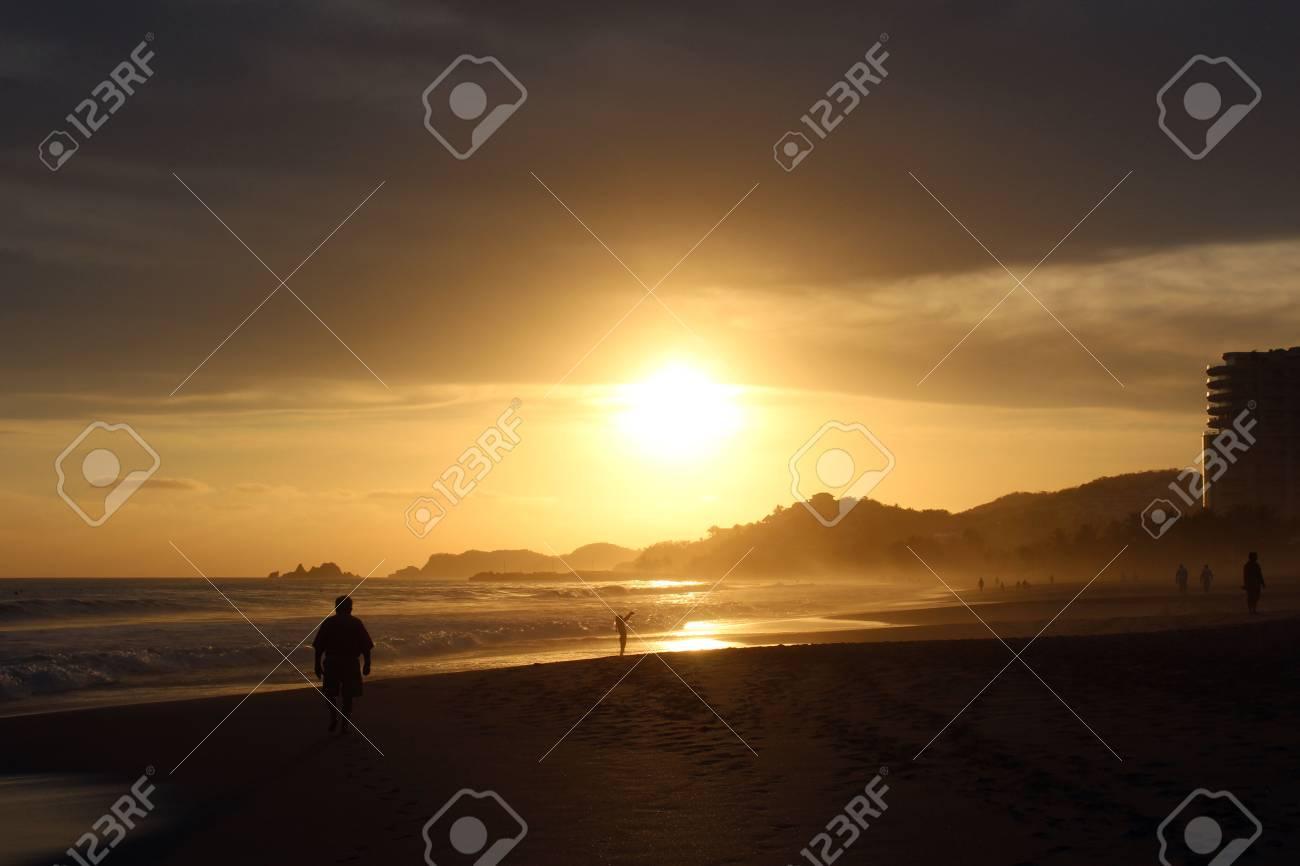 Sunlit Beach Stock Photo - 19451086