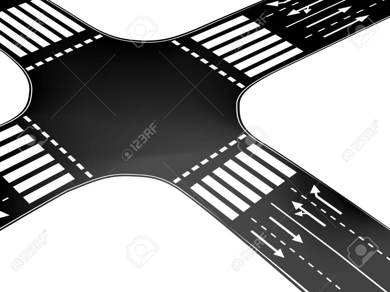 Vector crossroad Stock Vector - 11446271
