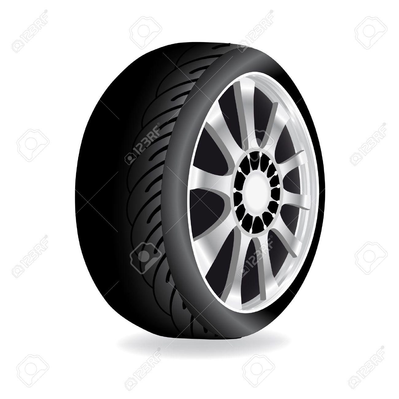 Vector wheel - car, automobile Stock Vector - 11446236