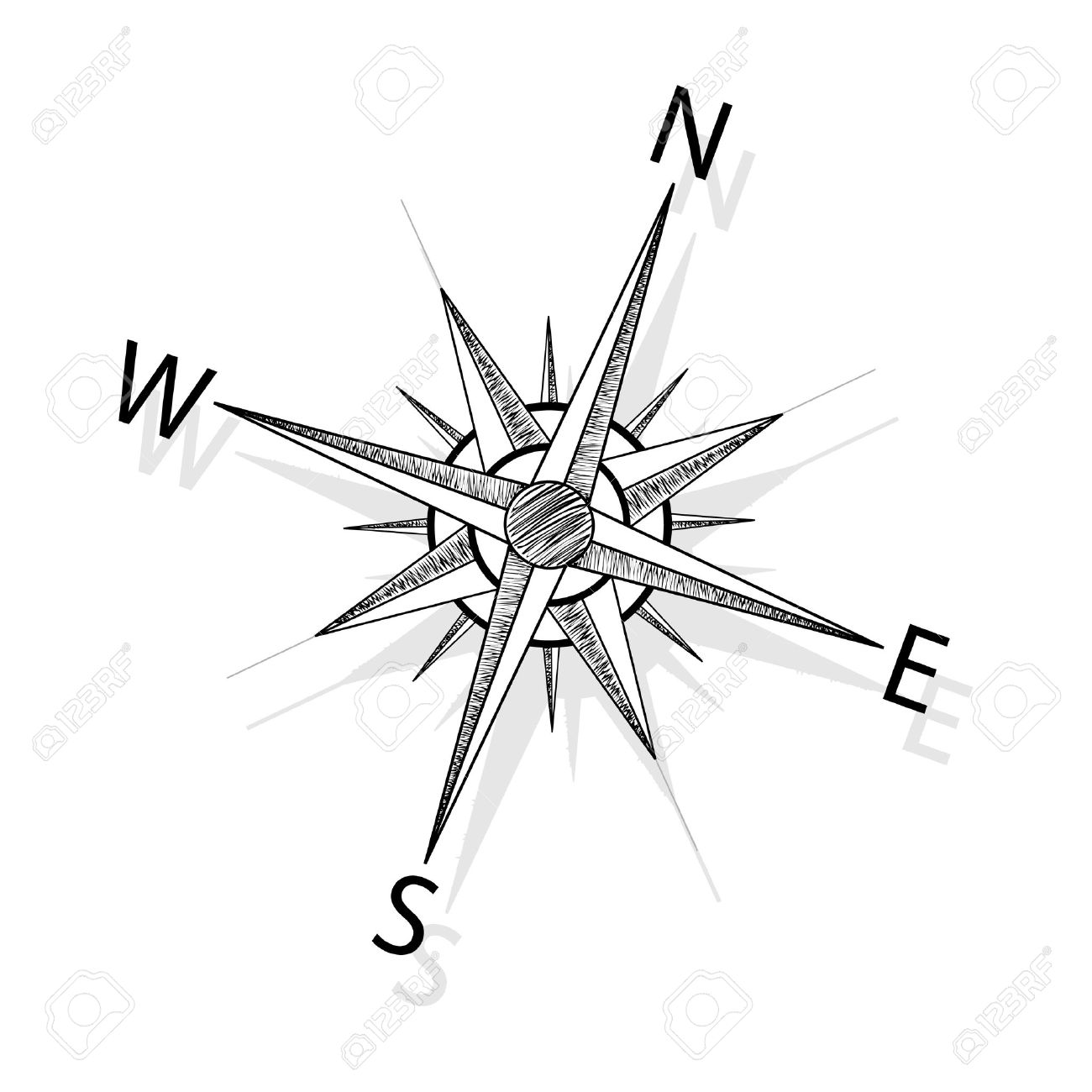 vector compass royalty free cliparts vectors and stock