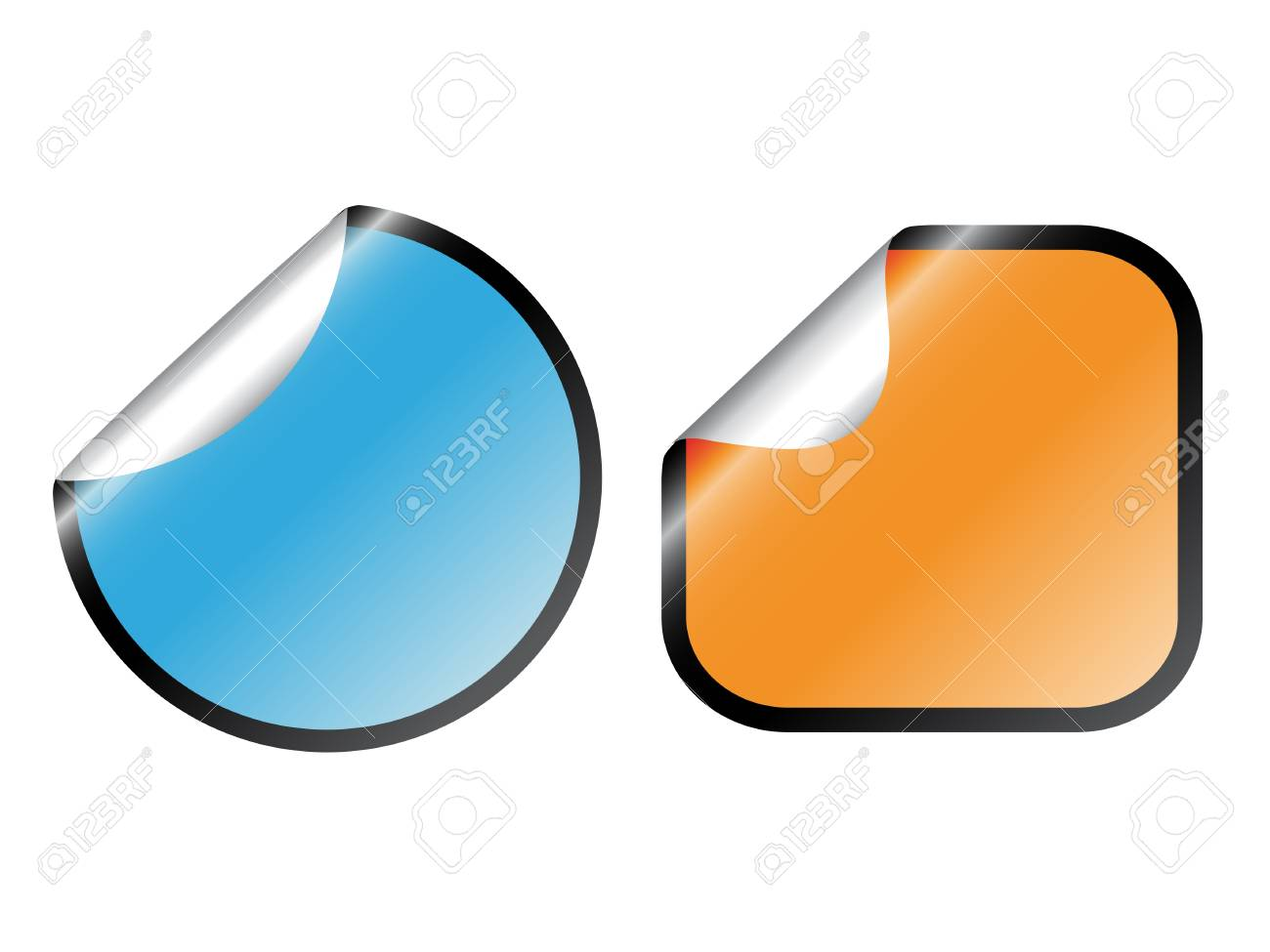 vector color stickers royalty free cliparts vectors and stock