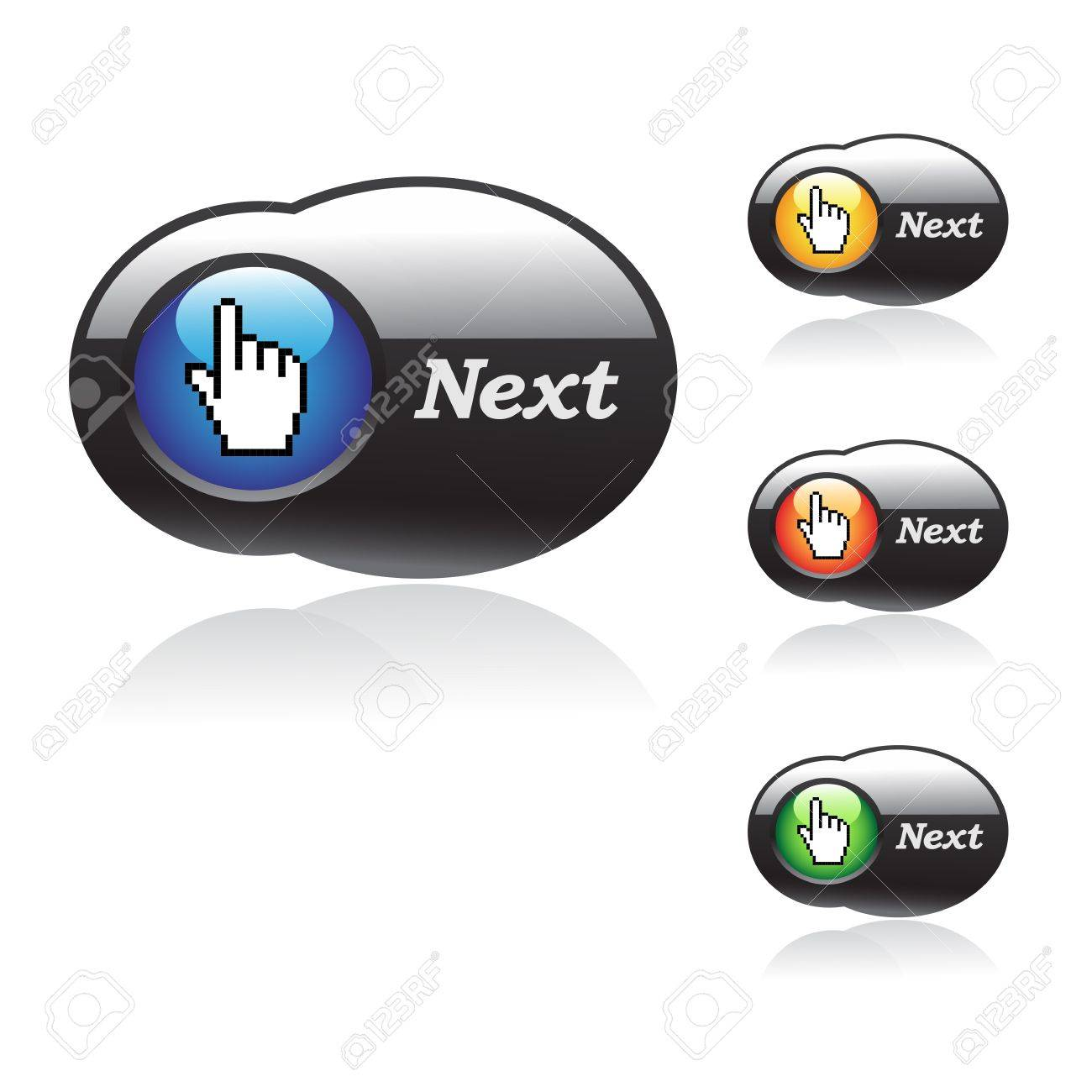 Vector buttons with cursor of hand Stock Vector - 11470138